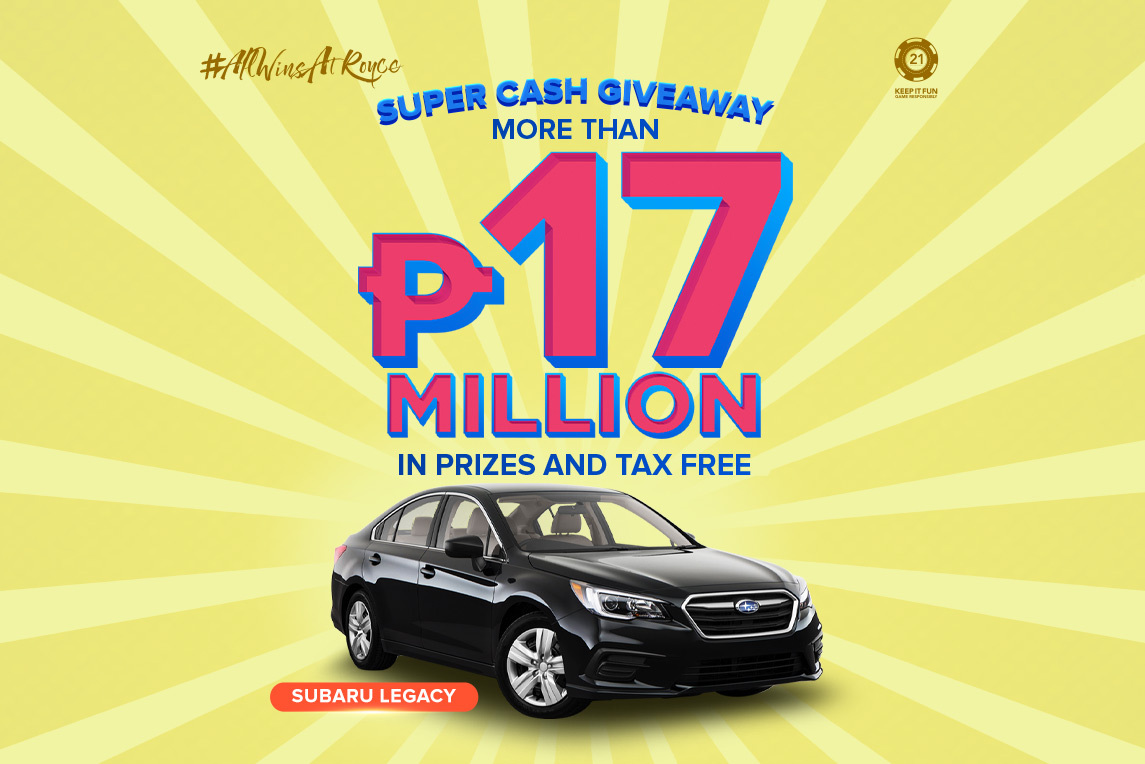 Super Cash Giveaway Q2 - Royce Hotel and Casino